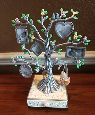 "ROCK-A-BYE BABY PHOTO TREE, HALLMARK KEEPSAKE, PEWTER, 10""x 9"", QUALITY, NIB"