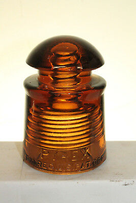 Amber Pyrex Insulator Pat Office #3