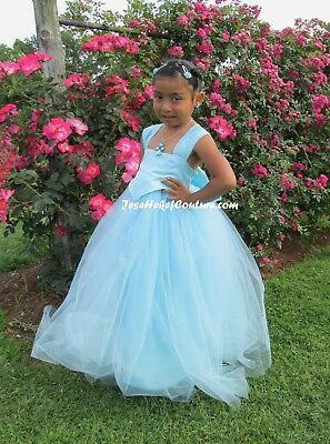 Satin Princes Tutu Girl Dress Choose your color and length! 3T, 4T, 5