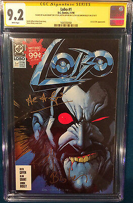 Lobo #1 Signed Cgc Entire Team!!! Simon Bisley Alan Grant Keith Giffen Comic Dc