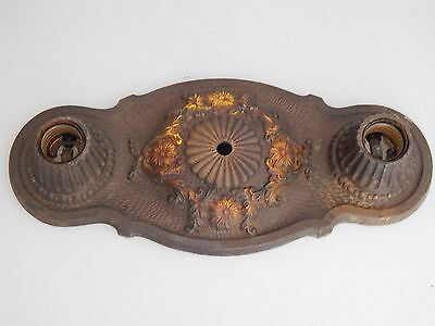 Art Deco American Cast Iron Markel Ceiling Light M L F Inc