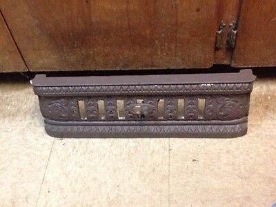 Antique Cast Iron Fireplace Fender