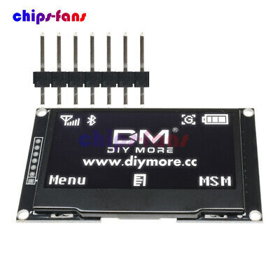 """OLED Display 2.42"""" inch SSD1309 128x64 SPI Serial Port Module White For Arduino"""
