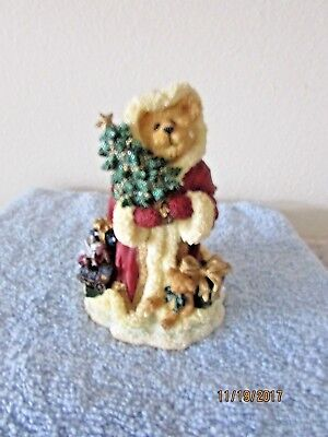 Kristopher Kringleberry Bearing Gifts Boyds Bears Figurine In Original Box