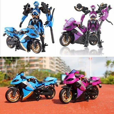 Motorcycle Model Deformation Robot Children Developmental Toys Decoration
