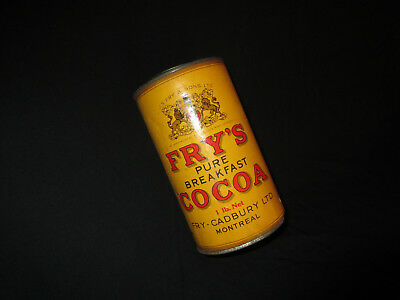Old Vintage Fry'S Pure Breakfast Cocoa Container