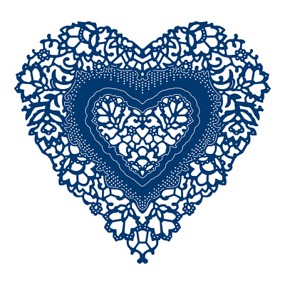 Tattered Lace ORNAMENTAL ANTIQUE LACE HEART Die TLD0282 - FREE 1st CLASS UK P&P