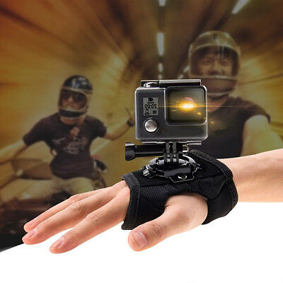 HK- Hand Wrist Arm Strap 360-Degree Rotation Mount for Gopro Action Camera Luxur