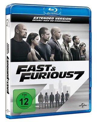 FAST AND FURIOUS 7 Extended Cut + Kinofassung - Blu-ray NEU OVP Top!