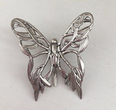 John Hardy Signed Butterfly Clip For Necklace Pendant / Hair / Brooch / Scarf