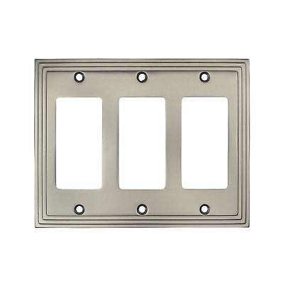Cosmas 25084-SN Satin Nickel Triple GFI / Decora Rocker Wall Switch Plate Swi...