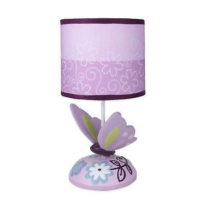 Lambs & Ivy Butterfly Lane Lamp Base with Shade