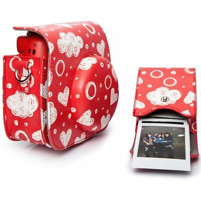 For Fujifilm Instax Mini 7S Case Bag For Storaging Films And Photos Pu Leather