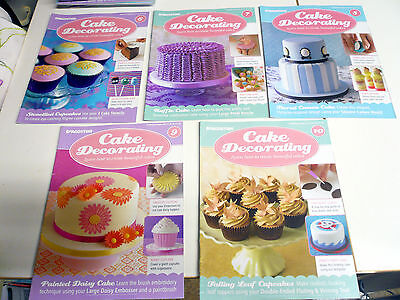 Cake Decorating magazines lot of 5 issue 6 7 8 9 10 please see photo's