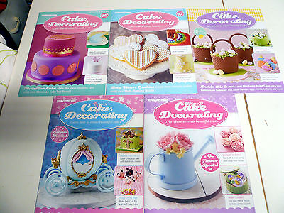 Cake Decorating magazines lot of 5 issue 46 47 & 3 special's please see photo's
