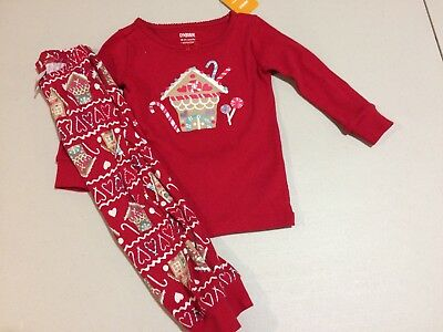 NWT Gymboree Christmas Girls Gymmies Gingerbread House Pajama Set Many Sizes