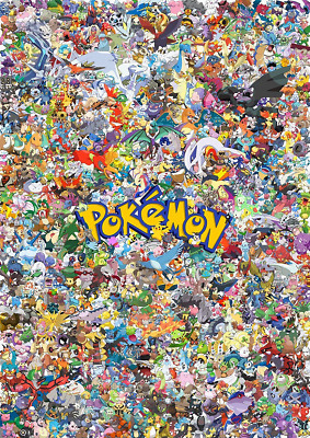 Pokemon All Characters Montage Poster