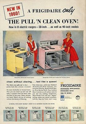 1959 Frigidaire Pull 'n Clean Oven Electric Range Ad Advertisement