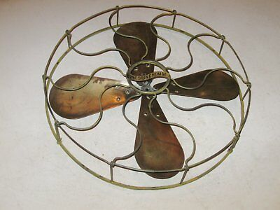 """Westinghouse 16"""" Brass Fan Blade With Brass Cage"""