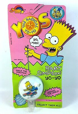 Vintage Bart Simpson Yo-Yo New Sealed MOC 1990 Retro Rare 90s Spectra Star Yos