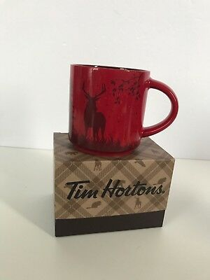 NEW IN BOX Tim Horton's 2017 Holiday Coffee Mug Cup DEER, Limited Edition