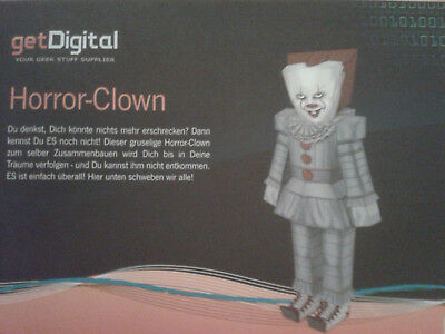 Papercraft Horror-Clown - ES (Stephen King) - Neu und OVP + Bonus!