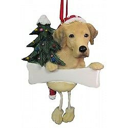Labrador Retriever, Yellow, Personalized Dog Ornament  *CUTE*