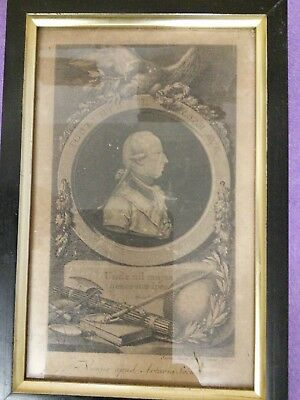 antique American print Jacob Adams  dated 1783