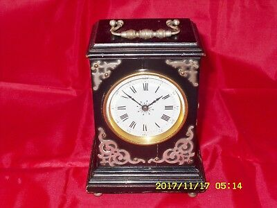 Antique 8Day French Victorian Ebonized WoodenCase Carriage Clock, Working Order