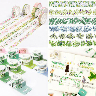 Floral Plant DIY Paper Sticky Adhesive Sticker Masking Washi Tape Scrapbook Deco
