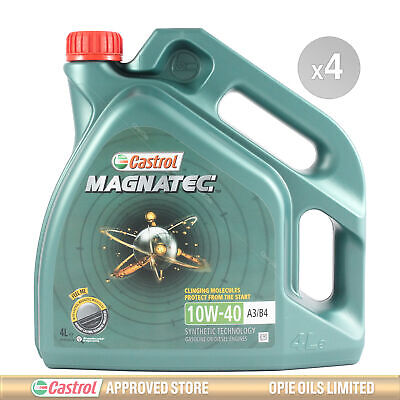 Castrol Magnatec 10W-40 Part-Synthetic Engine Oil ACEA A3/B4 - 16 LITRES 4x4L