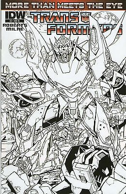 Transformers More Than Meets the Eye #2 RI Black and White Sketch Cover IDW