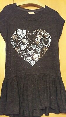 girls next age 11 sequin heart top worn once