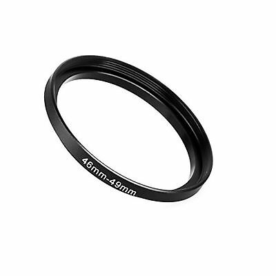Fotodiox Metal Step Up Ring Filter Adapter Anodized Black Aluminum 46mm-49mm ...