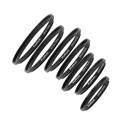 Fotodiox 7 Step Up Ring Filter Adapter Set Anodized Aluminum 49-52mm 52-55mm ...