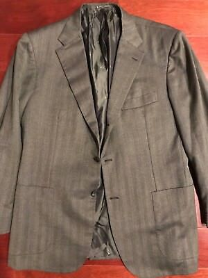 $5000 Kiton - sportcoat 42R-  Green With Patch Pockets
