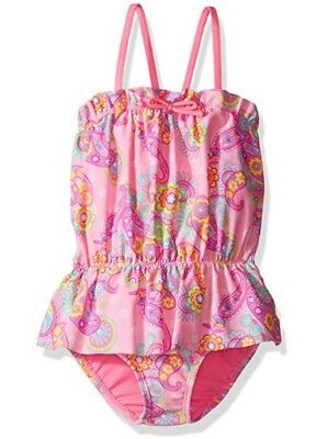 Hulu Star Little Girls Enchanted Paisley One Pc Swimsuit Pink 6X NWT