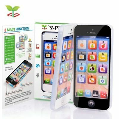 Kids Toy Phone Toy Phone New Educational English Learning Mobile Black/White