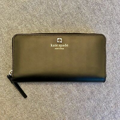 New $145 KATE SPADE Neda WLRU2065 Charlotte Terrace Leather Wallet Black