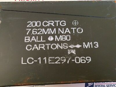 30 CAL AMMO CAN M19A1 7.62mm .30 Caliber USGI Military Surplus Good Cond