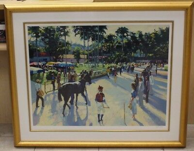 """Howard Behrens """"A Day At The Races"""" 1989 Serigraph Paper 20"""" x  40"""" Limited 300"""
