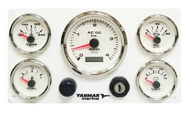 Marine Diesel Engine Instrument Panel for Yanmar, fully wired ready to install