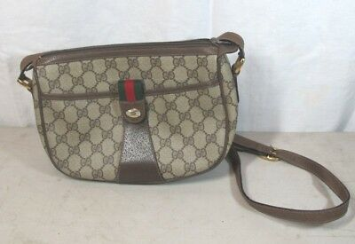 C. 1980's Authentic Gucci Italy Monogram Accessory Collection Crossbody Purse