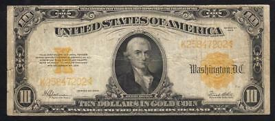 1922 $10 Gold Certificate Note, Fr 1173 Large size currency  K25847202