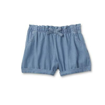 WonderKids Infant & Toddler Girls' Cuffed Shorts Baby Blue Size 3T Ships Free!