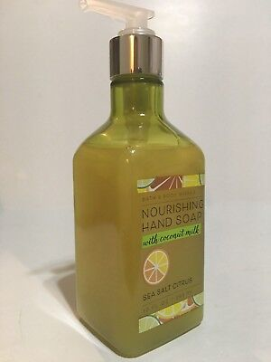 New Bath Body Works Sea Salt Citrus Nourishing Hand Soap 10 Fl Oz Coconut Oil