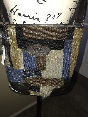 Yilin Hand Beaded Cross Body Travel Purse New With Tags Multicolor New
