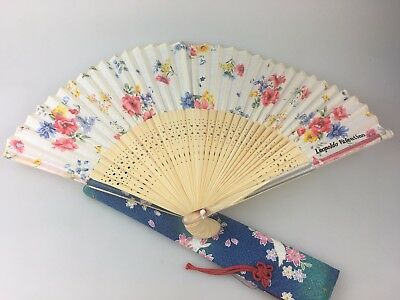 Hand Fan - Beautiful Design - Possibly Japanese - Leopoldo Valentino Brand