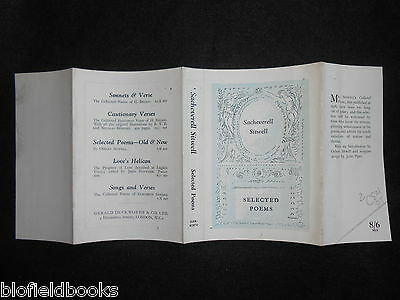 """ORIGINAL JOHN PIPER DUSTJACKET/COVER (ONLY) for Selected Sitwell """"Selected Poems"""