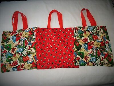 "Handmade Christmas Tote Bag 14 1/2"" x 15 1/2"" Lined NEW!"